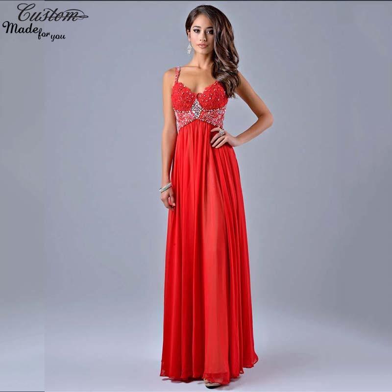 Cheap spaghetti strap red dress