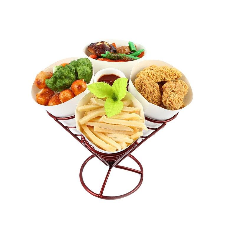 1sets KTV dessert pastry basket of fried chicken snack Chips Fry Basket Serving Food French Fries Basket Western Cafe Bar