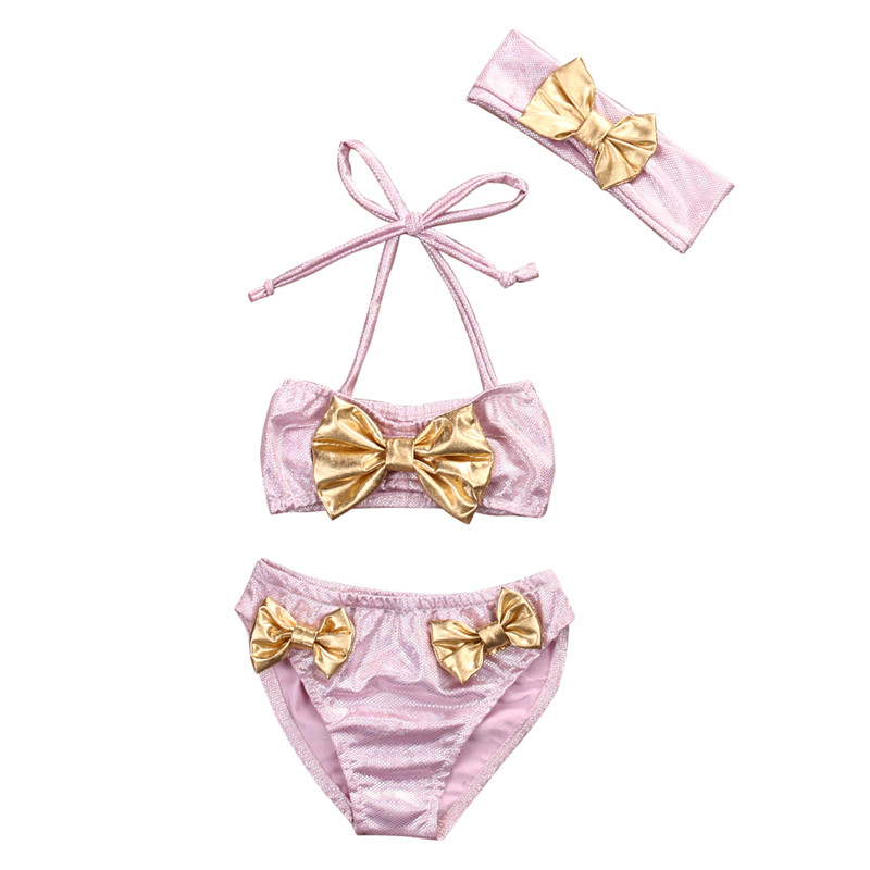 2017 Newest Hot Summer Fashion Girls Swimwear 3PCS Baby Girls Tankini Swimwear Bikini Swimsuit Bathing Suit Beachwear Costume UK