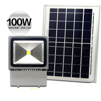 2PCS/Lot 100W Solar Power LED Flood Light LED Reflector Light Solar Panel Spotlight Outdoor Lighting Garden Lamp Waterproof
