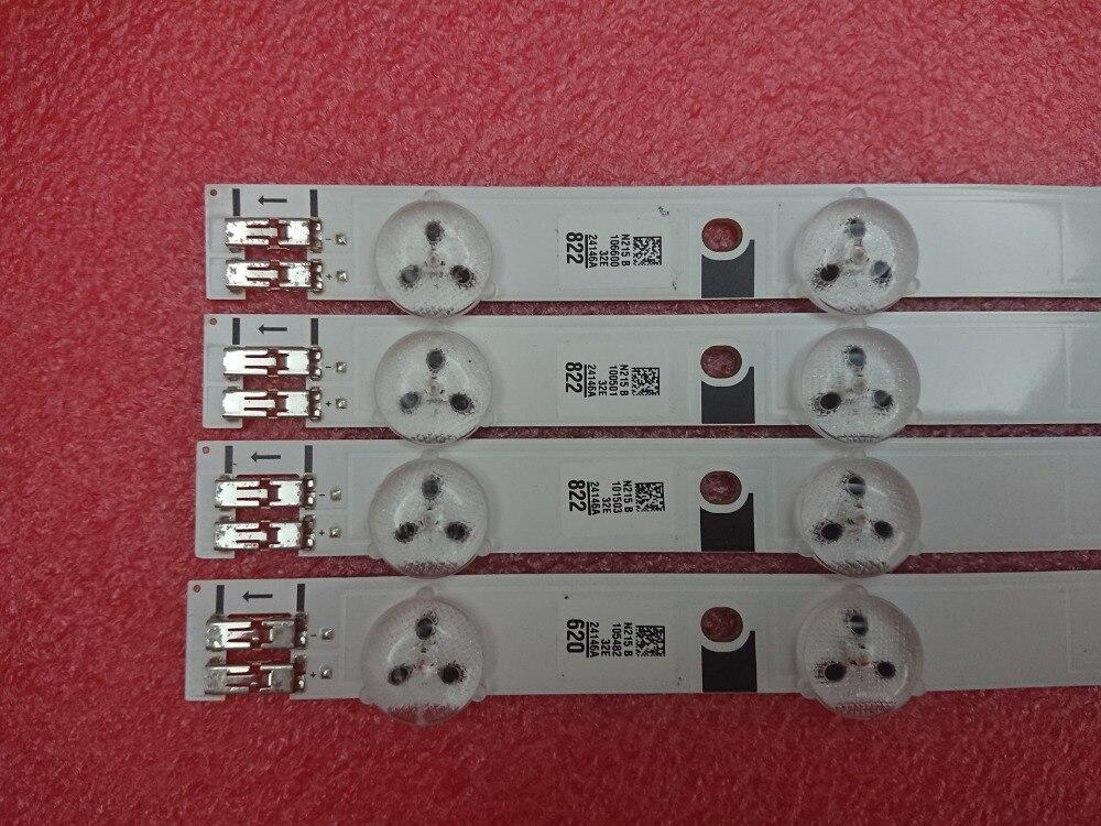 (New Kit) 4pcs 10LEDs 580mm LED Backlight  Strip For UE32EH5000KX D1GE-320SC1-R3 32F-3535LED-40EA BN96-24146A D1GE-320SC1-R2
