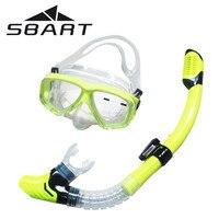 SBART Scuba Diving Equipment Diving Mask Equipment Full dry Snorkel Anti Fog Swimming Snorkeling Diving Glasses Goggle