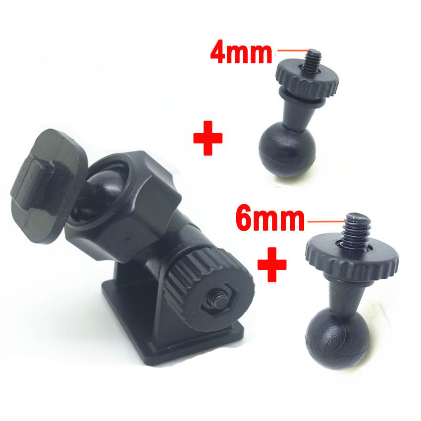 Double-Sided Driving Recorder T-shaped Mount PLUS 4MM 6MM Head DVR Bracket Screw Connector Rack DV GPS Camera Stand Holder