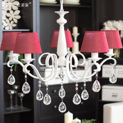 Acquista all'ingrosso online moderno lampadario rosso da grossisti ...