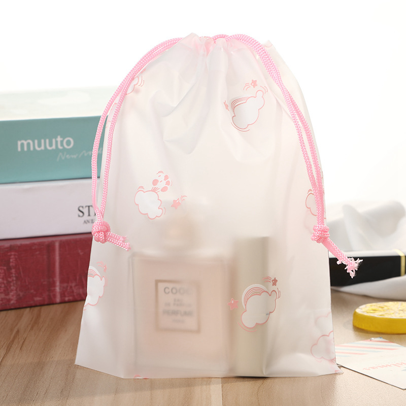 Cartoon Cloud Pink Transparent Makeup Bag Travel Zipper Make Up Case Organizer Storage Cosmetic Wash Box Toiletry Beauty Pouch