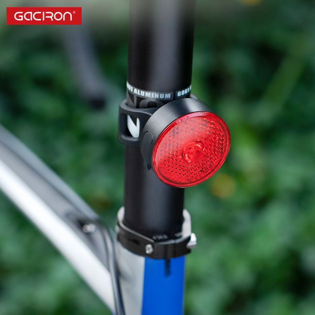 GACIRON W08-10A  USB Rechargeable Warning Bike Tail Light Two Installations Bicycle light Waterproof LED Lamp