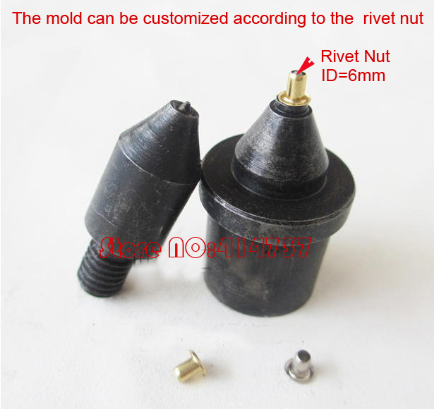 Industrial Grommet Button Machine Maker Eyelet Hand Press Tool For Banner Bags Shoes+Mould(Suitable for 6mm ID rivet nuts) metal manual grommet press machine 6 8 10mm die mould 3 000 1000x3 eyelet supplies making banner flag