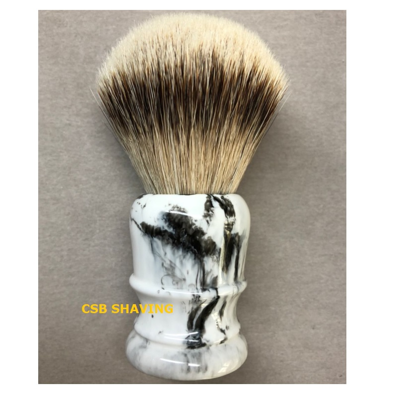 CSB High Quality Silvertip Badger Hair Knot 24mm Shaving Brush Marble Pattern Mustache Beard Professional Shave