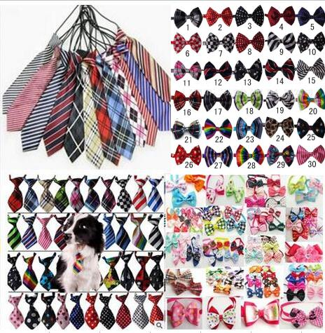 100pcs Lot Big sale 2018 Fashion Pet large small Dog Cute Bow Ties Neckties Bowknot