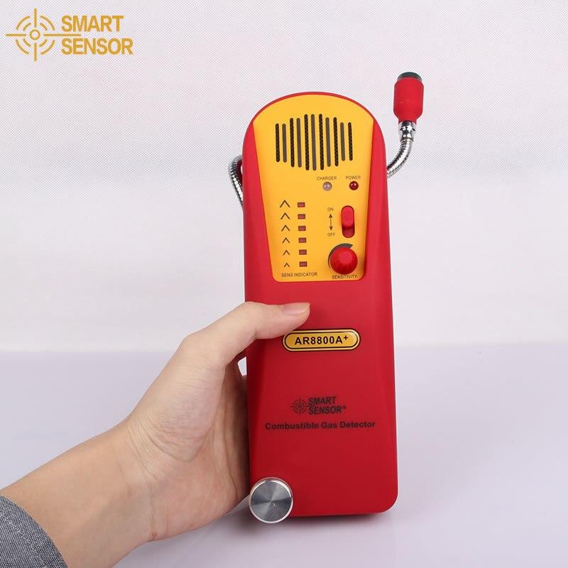 Smart Sensor AR8800A+ Combustible Gas Leak Tester Natural Gas Test Methane Gas Detector Coal Gas Detector + Lithium Battery