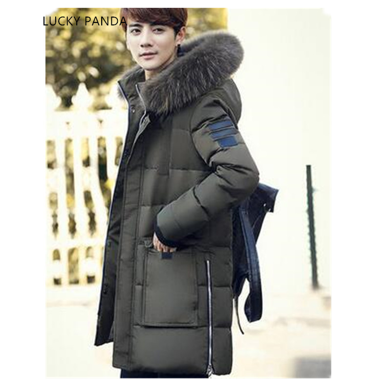 LUCKY PANDA 2016 MAN new winter clothes in the  long thick slim hooded jacket LKC012 lucky panda 2016 the new winter coat and female slim in the long and small lattice fragrant cotton lkp243
