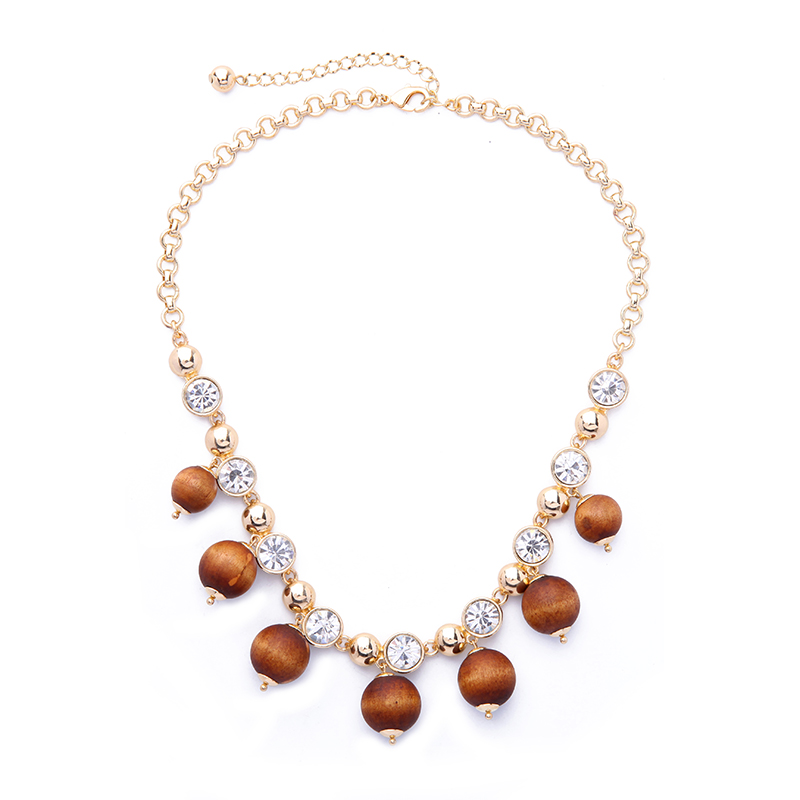 Bulk Price 2017 New Design Crystal Brown Wooden Beads Necklace For Women Fashion Jewelry Aliexpress Online Shopping Designer Necklace Fashion Necklacenecklace Designer Aliexpress