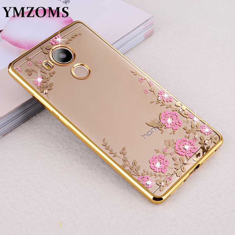 Rhinestones Soft <font><b>TPU</b></font> Plating <font><b>Case</b></font> For Xiaomi <font><b>Redmi</b></font> <font><b>Note</b></font> 4 <font><b>4x</b></font> pro Cover Silicone Flower Protection <font><b>Case</b></font> On <font><b>Xiomi</b></font> <font><b>Redmi</b></font> Note4x 4 x image