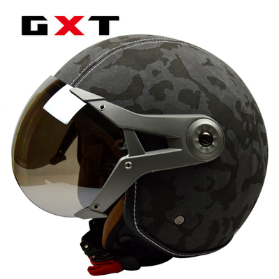 100 original GXT pu leather men women capacete motorcycle font b helmet b font vintage casco