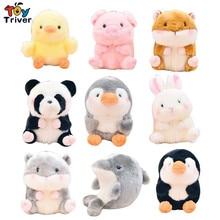 """20 см плюшевый кролик, свинья, панда, хомяк, пингвин, дельфин, Цыпленок, игрушка """"Морской Лев"""", чучело, кукла для детей, подарок на день рождения"""