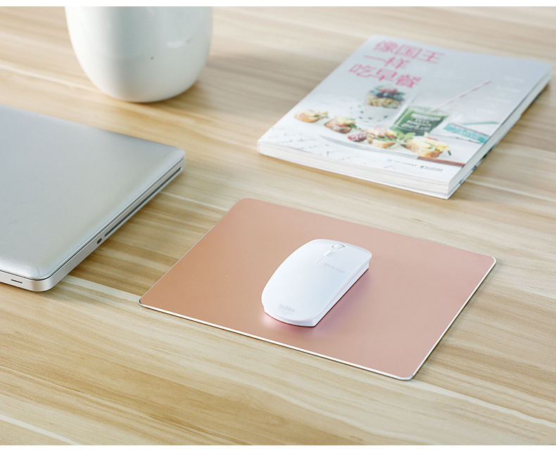 large-size-Aluminum-alloy-hard-mouse-pad-rose