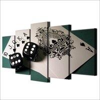 5 moderno Painel Jogo Dice Poker Pintura A Óleo da Lona Arte Da Parede Suspensão de parede Poster Imagens Modulares para Casa ou para a Decoração Da Sala de estar