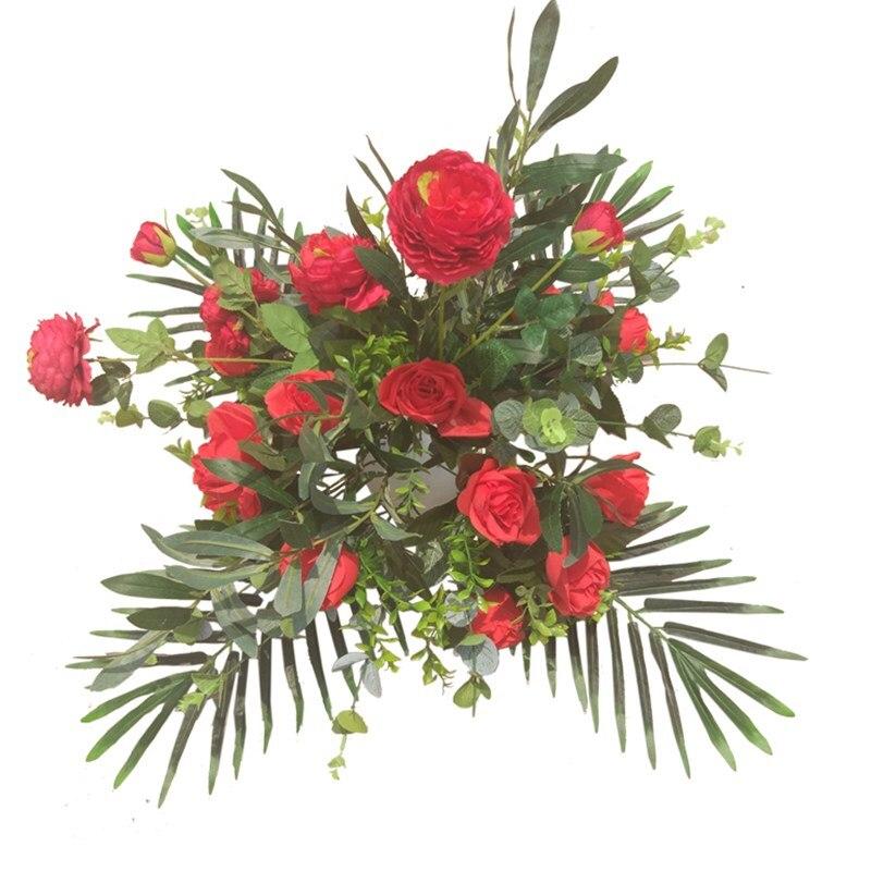 Fleurs artificielles haut de gamme, vraie touche, décoration de mariage, adaptées à toutes sortes de stands de fleurs