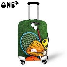 ONE2 Design Drucken Gepäck Abdeckung gelten 22,24, 26 Zoll Koffer abdeckung kinder Gepäck abdeckung freies verschiffen