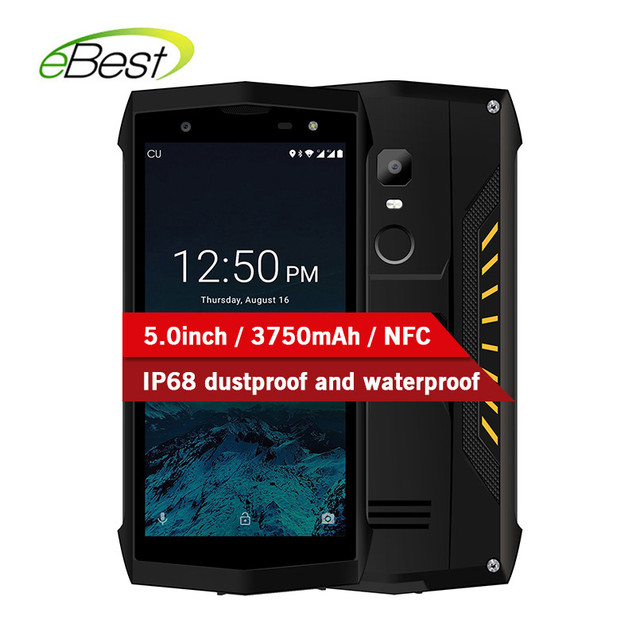 POPTEL P8 Smartphone 5.0 Inch 3750mAh IP68 Dustproof Waterproof 2GB+16GB Face ID NFC 5MP+8MP MTK6739 Touch Android Cell phone