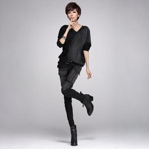 Image 4 - TWOTWINSTYLE Denim Pant For Women Patchwork Pocket Zipper Plus Size Pencil Jeans Spring 2020 Female Fashion Harajuku Clothing