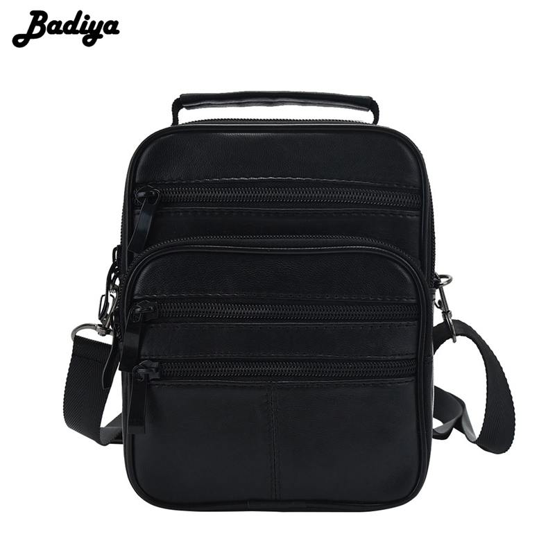 Fashion New Black Genuine Leather Men Crossbody Shoulder Bag Messenger Bags Male Business High Quality Bolsa Black