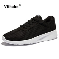 Viihahn Mens Running Shoes Spring And Summer Breathable Mesh Lace Up Sneakers Outdoor Walking Shoes Athletic