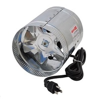 Hon Guan 4inch Corded Inline Duct Booster Fan Exhaust Ventilation Blower Fan For Grow Tent Room