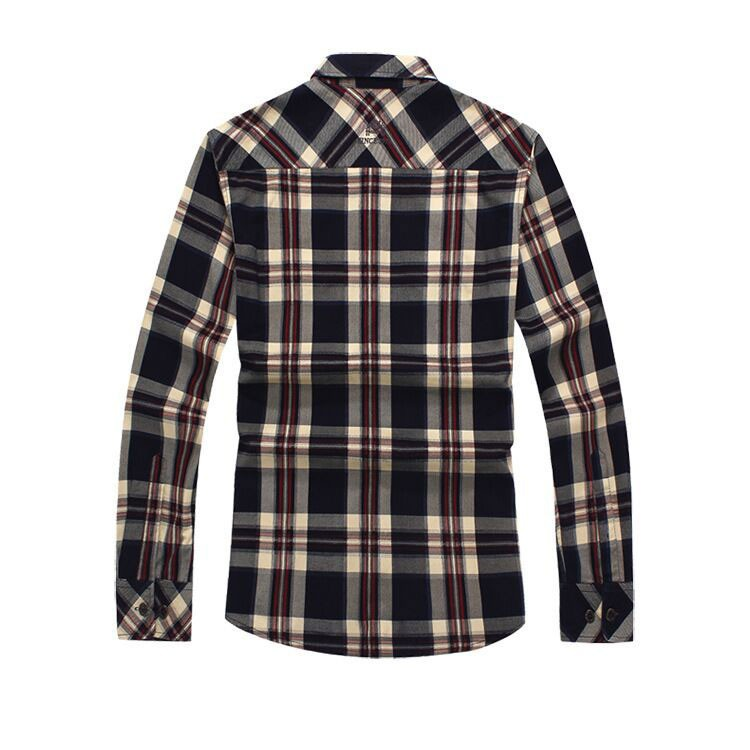 2015 Men Brand NIAN JEEP Plaid Dress Shirts Plus Size Long Sleeve Cotton Casual Loose Camisas Hombre Blouse Business Clothes 3XL (3)