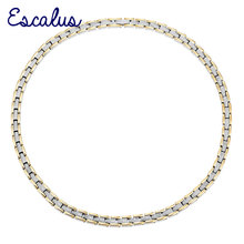 Escalus Women Stainless Steel Necklace 4in1 Magnet 2 Tone Gold Silver Color Ions Ladies Magnetic fashion Jewelry Neckwear Charm