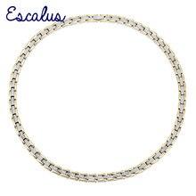 Escalus collier en acier inoxydable pour femmes, 4 en 1, aimant 2 tons, couleur Ions or argent, bijoux magnétiques à la mode, breloque de collier