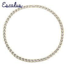 Escalus kobiety naszyjnik ze stali nierdzewnej 4in1 magnes 2 Tone złoty kolor srebrny jony panie biżuteria magnetyczna Neckwear urok