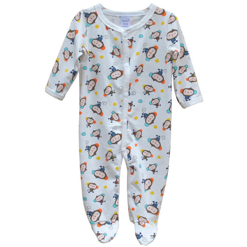 Brand Newborn Baby Clothes Cute Cartoon Baby Costume Girl Boy Jumpsuit Clothing Spring Autumn Cotton Romper Body Baby Clothes 7