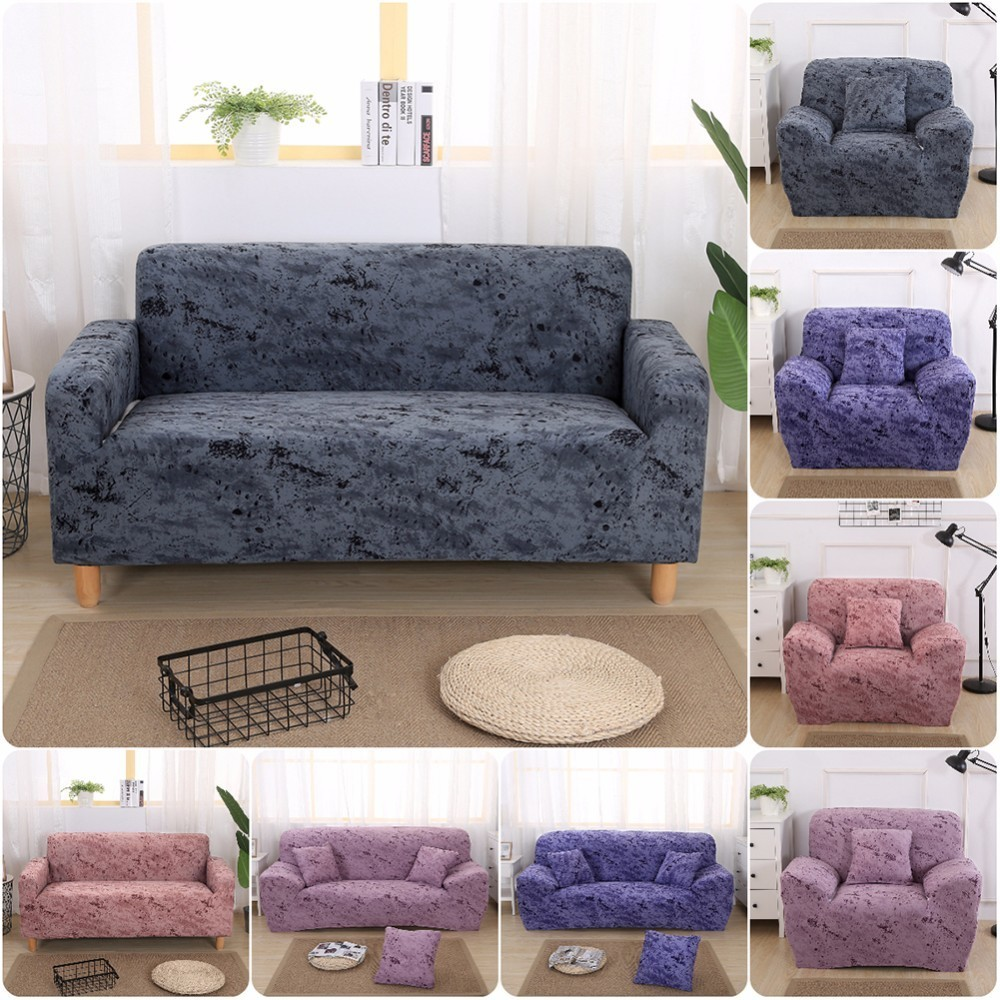 Home Decor Inkjet Pattern Elastic Stretch Universal Sofa Covers Sectional Throw Couch Corner Cover Cases for Furniture Armchairs