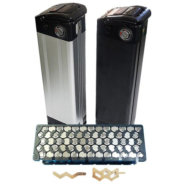 Funda para batería de bicicleta eléctrica 36V 10Ah, paquete de batería de litio, caja de 24V 36V 48V con soporte gratis 5*13 y níquel puro