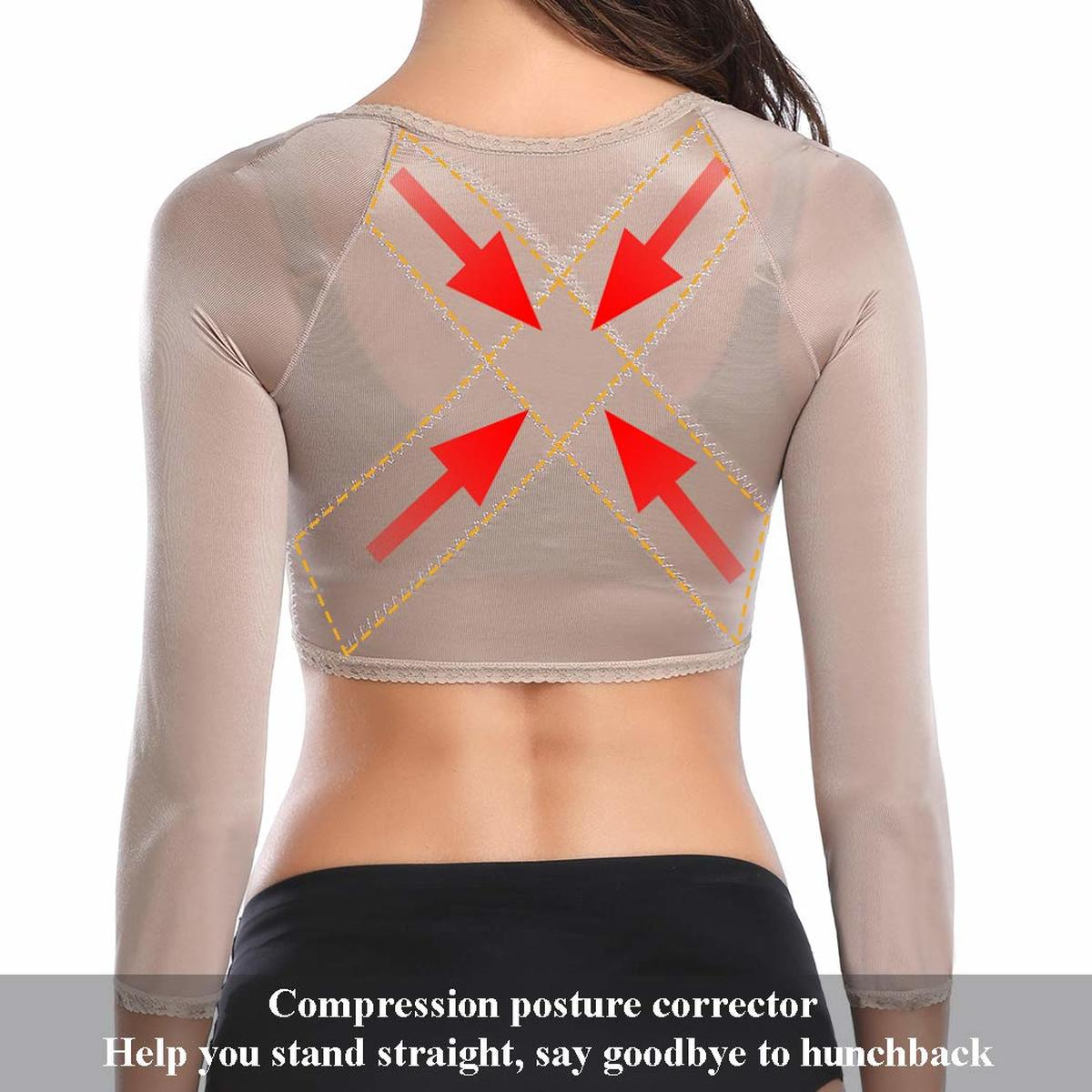 Image 3 - Humpback Posture Corrector Arm Shapers for Women Crop Tops Compression Slimming Upper Surgical Slimmer Arm Vest Shapewear-in Tops from Underwear & Sleepwears