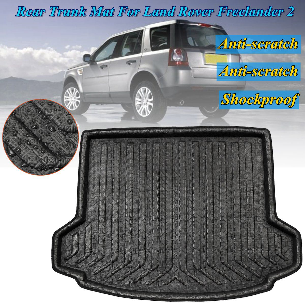 for Land Rover Freelander 2 2006 2007 2008~2015 New Rear Trunk Cargo Car styling Interior Accessories Boot Liner Waterproof Mat new throttle body assembly for 2006 2008 suzuki forenza reno 2 0l 25368821 car accessories
