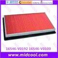 O envio gratuito de Alta qulality 16546-V0192 da cabine filtro de Ar 16546-V0100