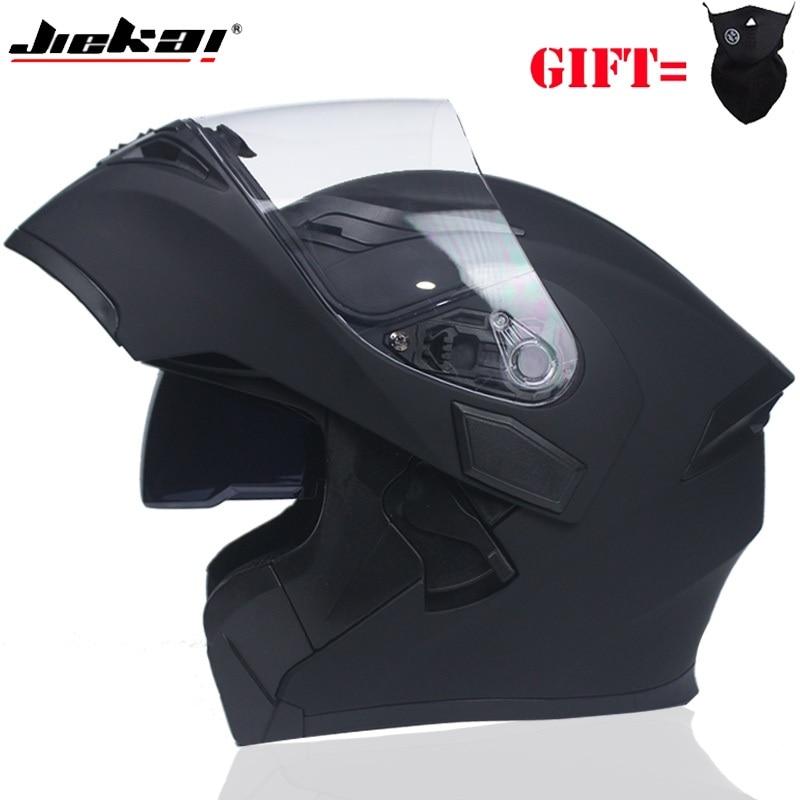 Mens & Womens Flip Motorcycle Helmet Dual Lens Visor Modular Racing Helmet capacete Casco Moto DOT Certified JIEKAI-902
