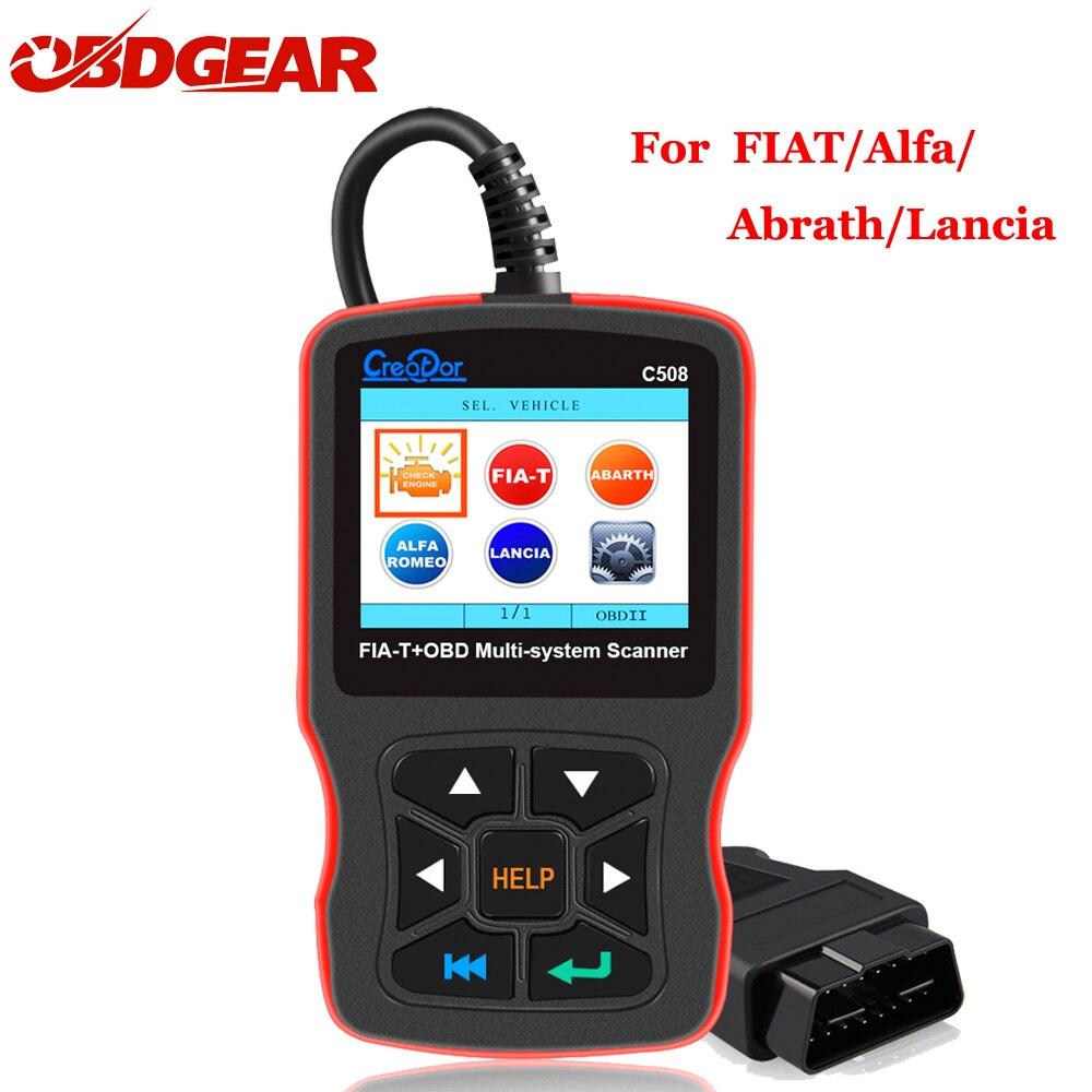 Creator Auto C508 Scanner for FIAT/Alfa/Abrath/Lancia Airbag/ABS Diagnostic Car OBD 2 OBDII/EOBD Scanner Multi-System Tool creator c310 for bmw multi system scan tool v7 2 free update online creator c310 scanner c310 scanner c310 system scanner