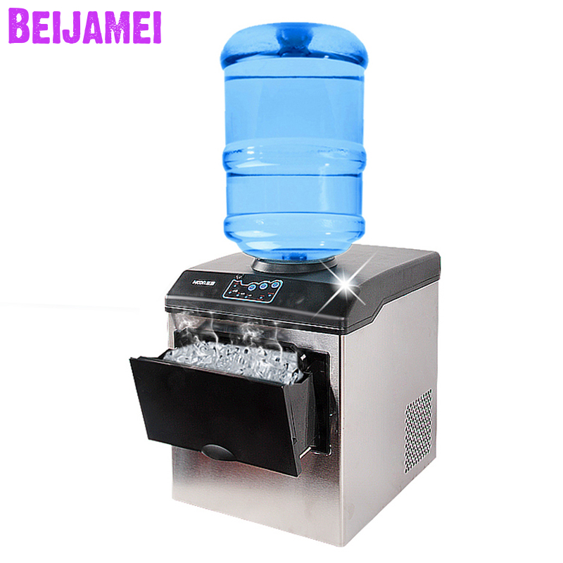 BEIJAMEI Factory Price Electric Bullet Ice Maker Machine Desktop barreled water inflow ice cube making machineBEIJAMEI Factory Price Electric Bullet Ice Maker Machine Desktop barreled water inflow ice cube making machine
