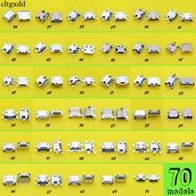 70 מודלים 5pin מיקרו usb טעינת שקע מחבר יציאת שקע עבור סמסונג Lenovo ZTE Huawei Meizu Xiaomi נייד טלפון מחשב