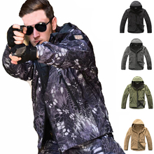 TAD Tactical Sharkskin DINTEX Softshell  Jacket Hunting Clothes Waterproof Hiking Camping Sport Jacket Windproof Outerwear outdoor camouflage hunting clothes sharkskin tad military tactical jacket army clothing windproof camping hiking sports jackets