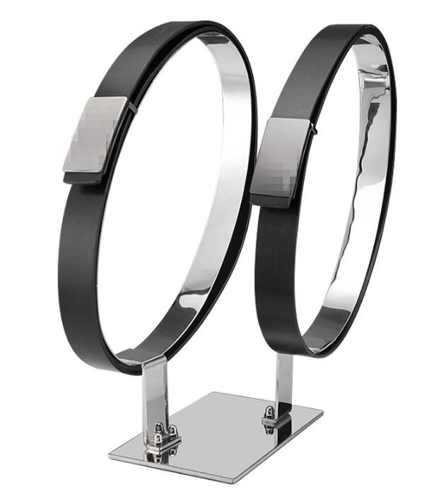 Supports d'affichage de ceinture support de présentoir de ceinture d'acier inoxydable ceinture/ceinture en cuir de bureau pour des accessoires d'affichage de Boutiques