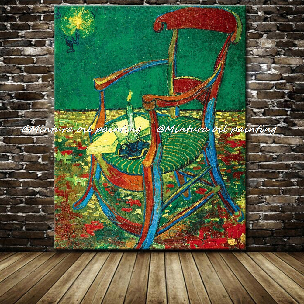 Gauguin's Chair Of Vincent Van Gogh 100% Hand Made High Q. Reproduction Oil  Painting On Canvas Wall Art Picture For Living Room-in Painting &  Calligraphy ...