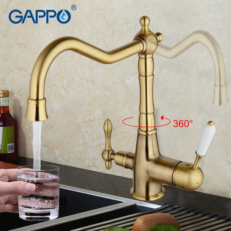 GAPPO антикварный кухонный смеситель Бронзовый кухонная раковина кран-смеситель torneira cozinha воды кухонный кран кухонные воды краны
