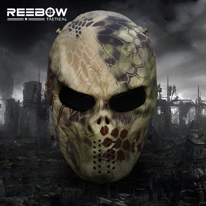 Highlander Camouflage Wargame Paintball masque extérieur armée visage complet Airsoft tactique crâne masques livraison directe