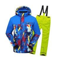 30 Детские Для мальчиков и девочек зимние лыжные сноуборд водонепроницаемый hoodied jakcet пальто Штаны спортивный Одежда для улицы костюм компле