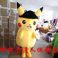 Pikachu Mascot Costume Cartoon Character Costumes Mascot Costume Fancy Dress Party Suit