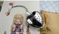 Heart Shaped Filter Tea Balls Stainless Steel Tea Strainers Oblique Tea Stick Tube Tea Infuser Steeper